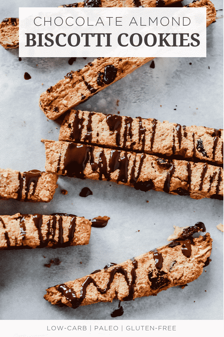 Chocolate Almond Biscotti Cookies