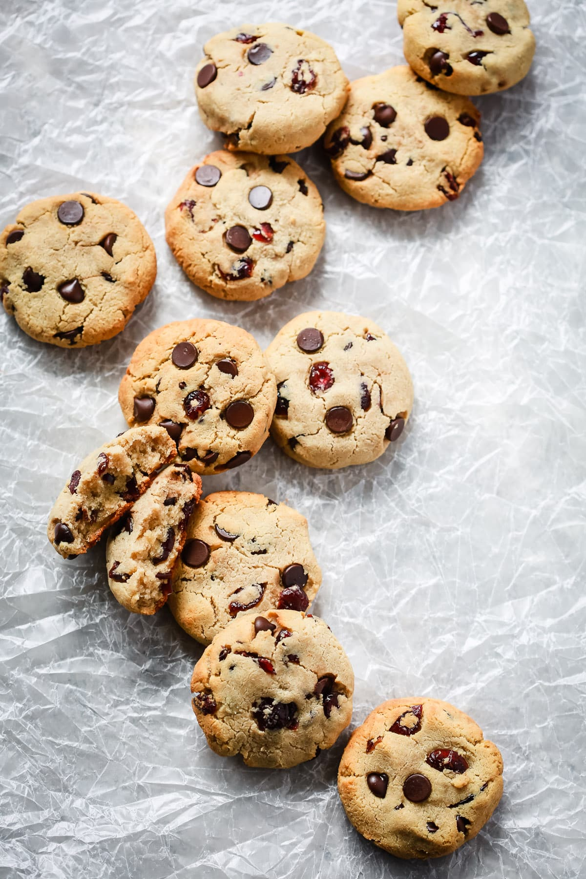 Cranberry Almond Chocolate Chip Cookies