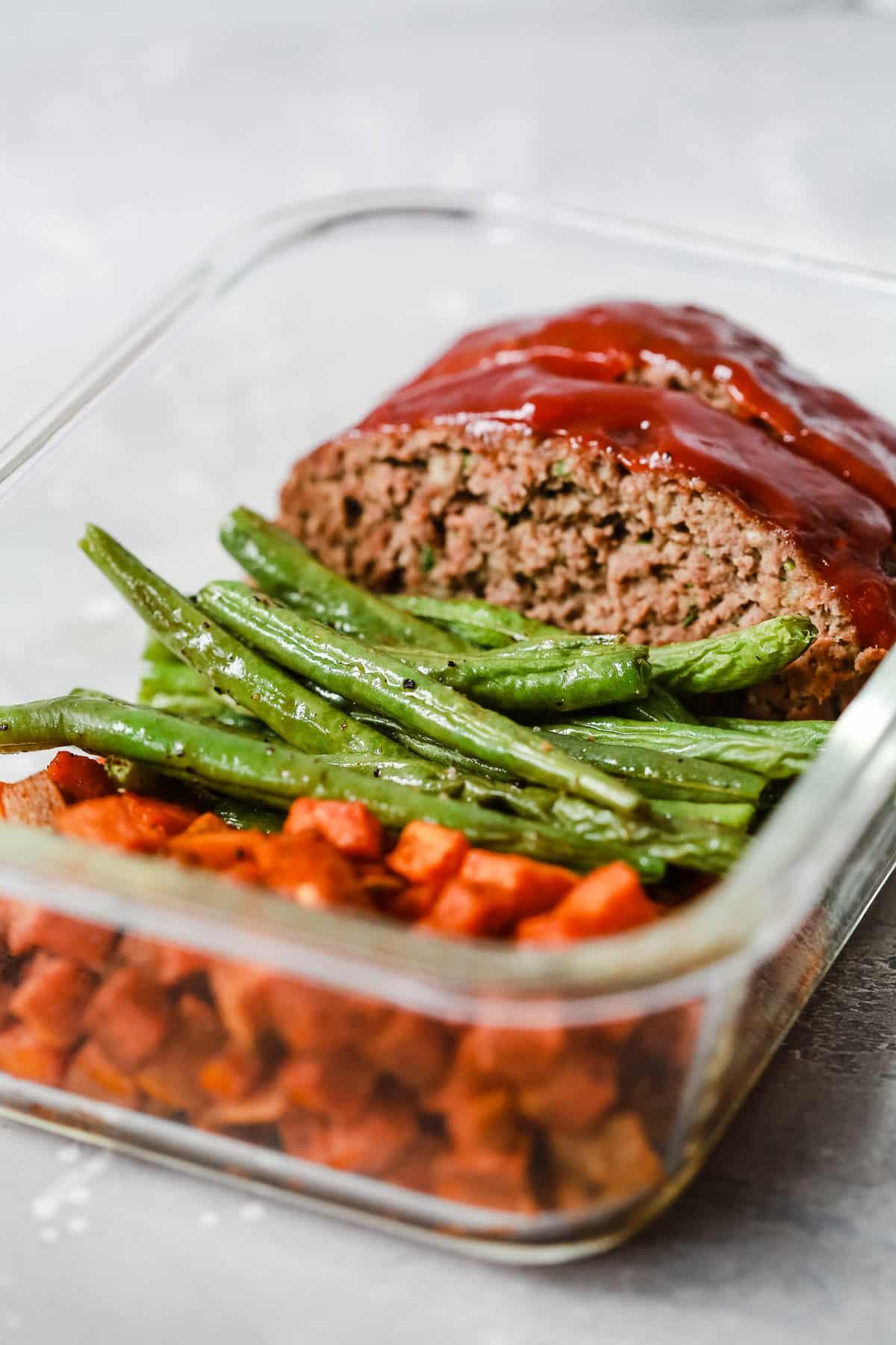 Healthy Meatloaf Meal-Prep Bowls