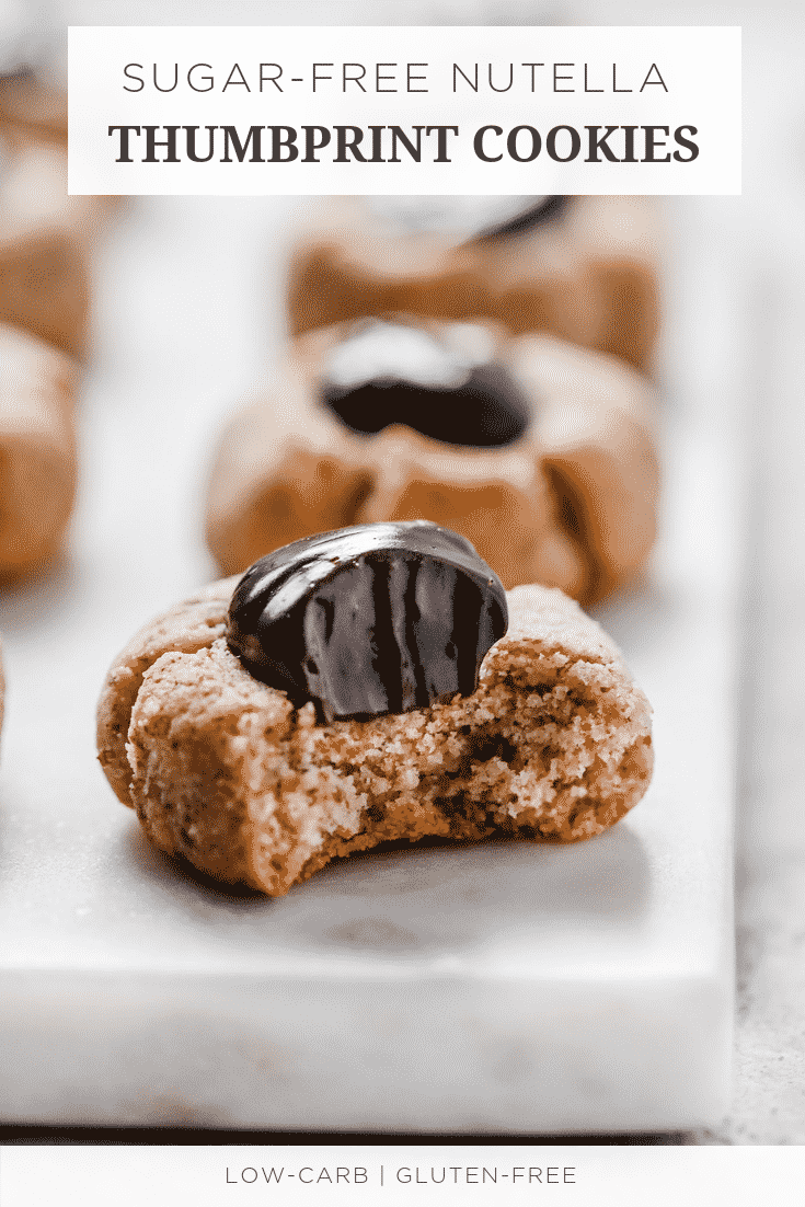 Sugar-free Nutella Thumbprint Cookies
