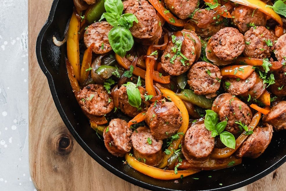 Italian Sausage, Onions and Peppers Skillet