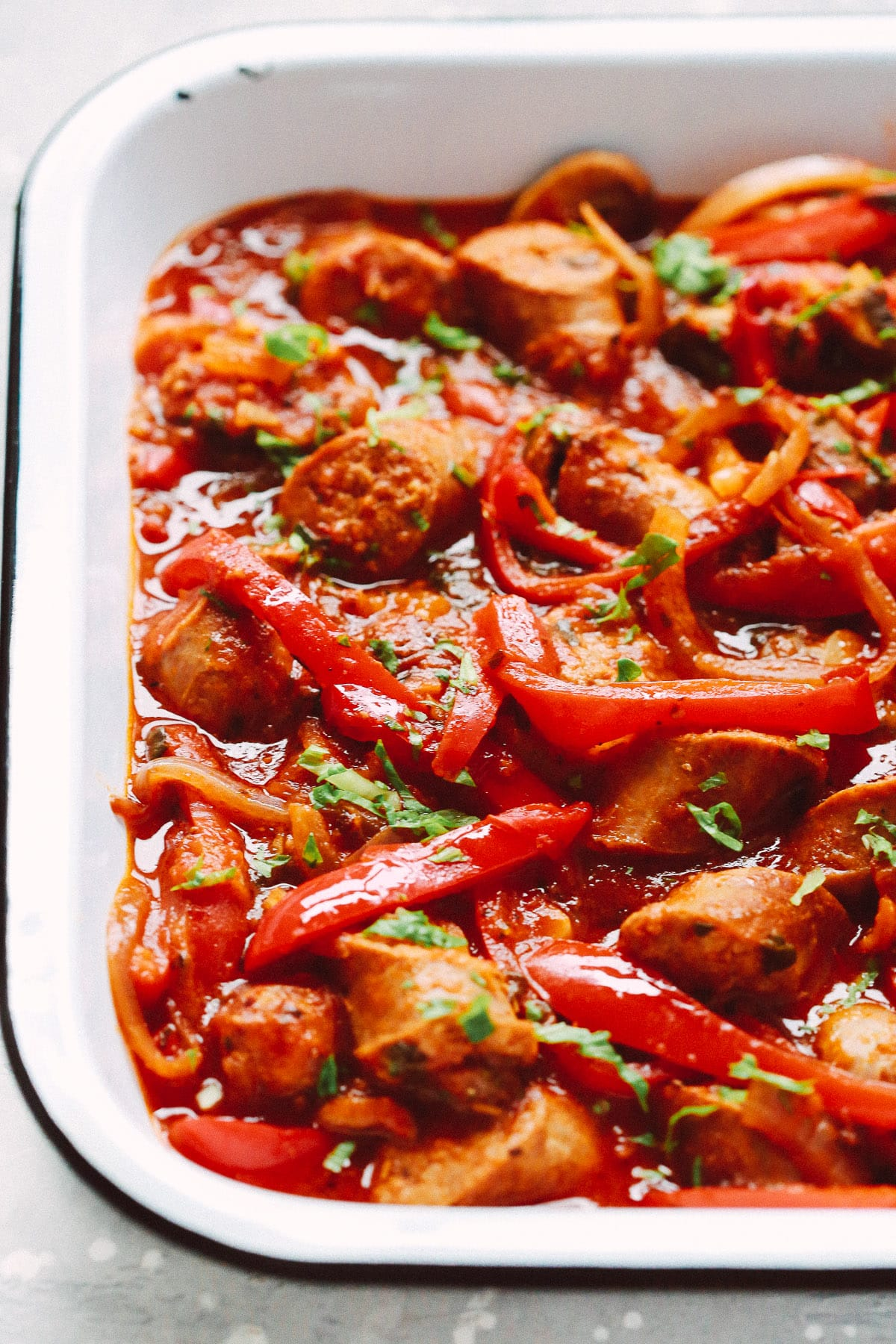 Slow Cooker Italian Sausage and Peppers
