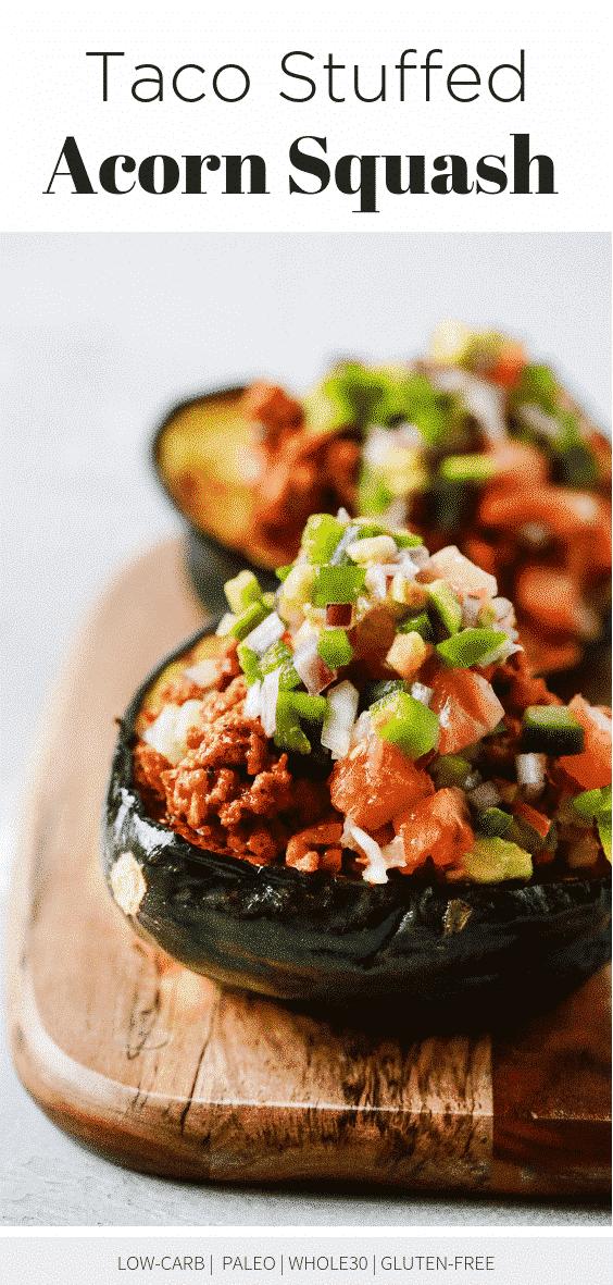 Taco Stuffed Acorn Squash