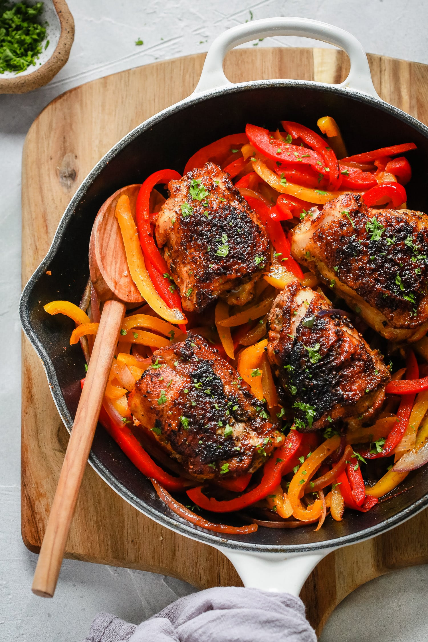 Headshot Chicken and Bell Peppers Skillet