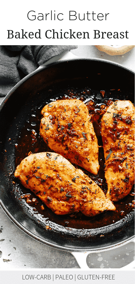 Garlic Butter Baked Chicken Breast