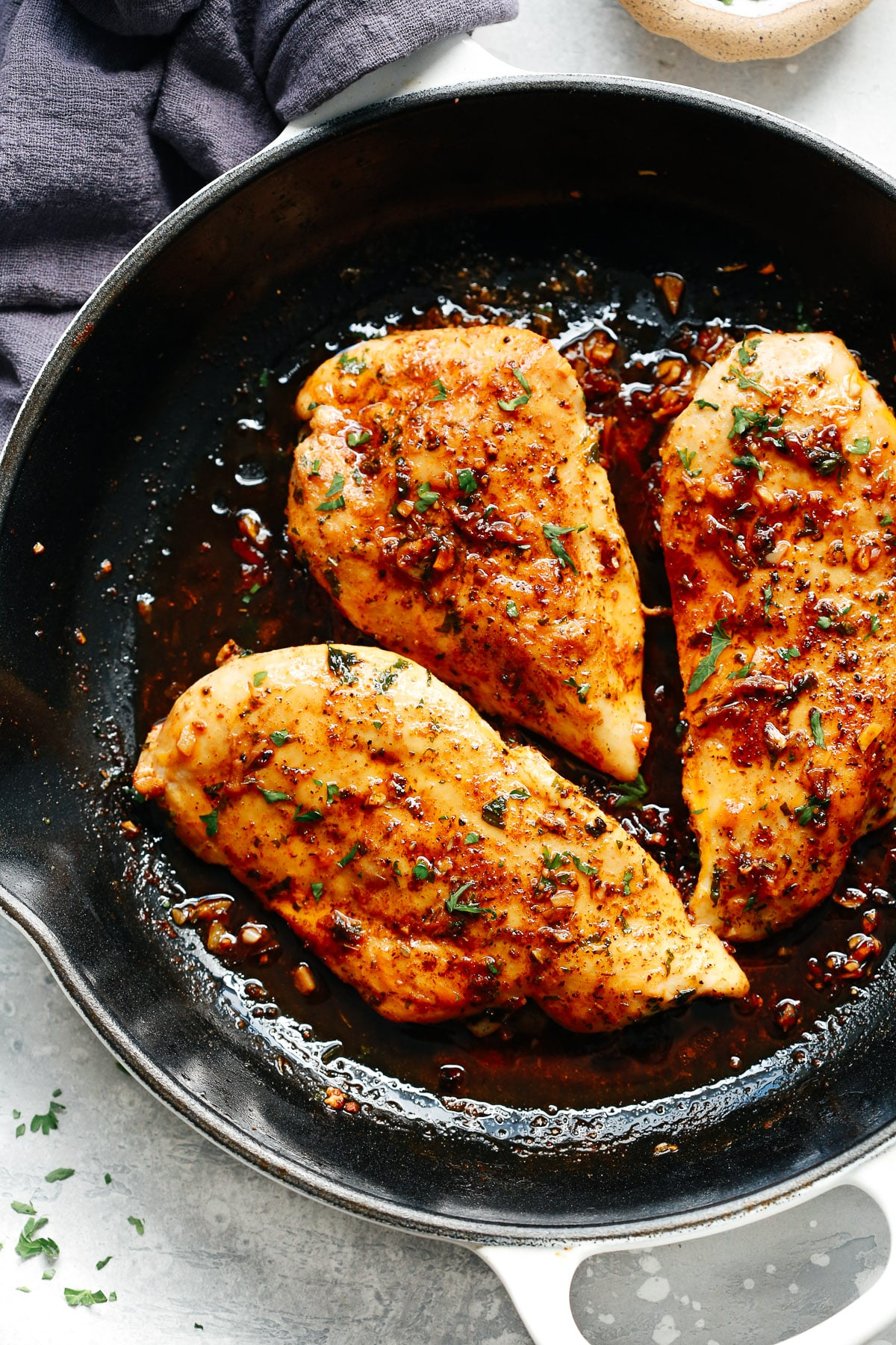 Garlic Butter Baked Chicken Breast (Helathy & Delicious