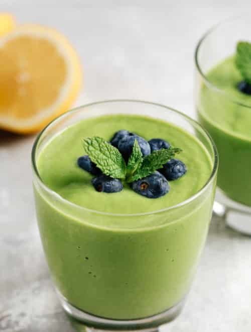 low carb green protein smoothie
