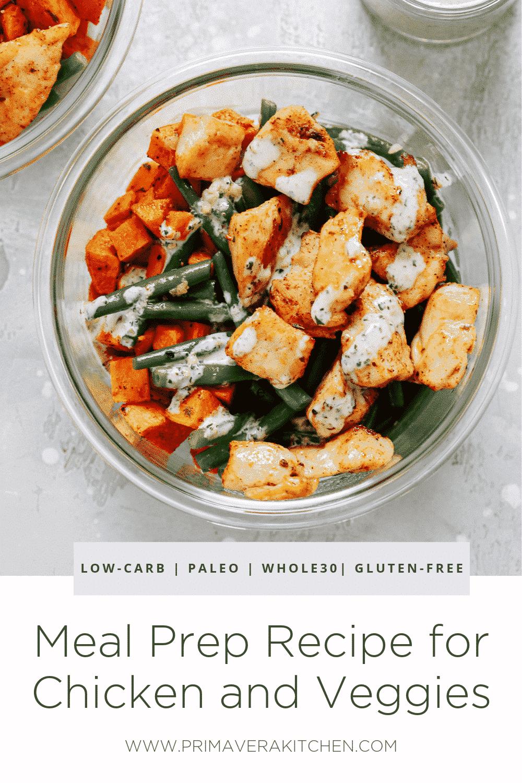 Chicken meal prep bowl